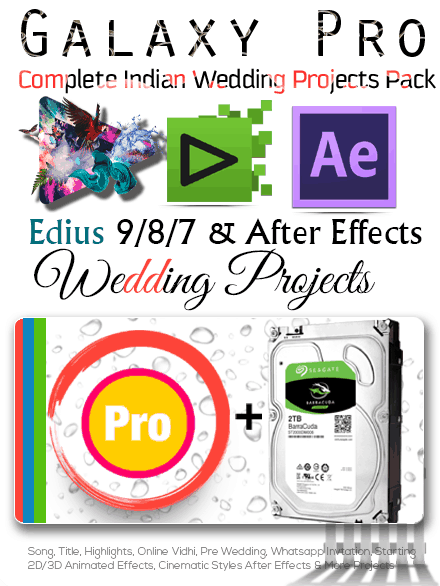 EDIUS 9 Projects + After Effects Projects Dongle (Galaxy Pro) With 2TB HDD