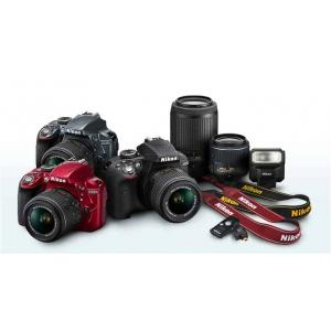 Nikon D3300 DSLR Camera - Lens (18-55mm)(70-300mm)Includes 16GB (Class 10) SD CARD + Carry Case + Wireless Mobile Adapter WU-1A