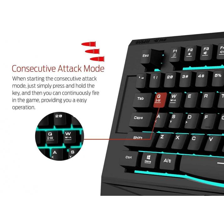 Gamdias Wired Ares 7Colors Essen Combo Keyboard & Mouse (GKC6001)
