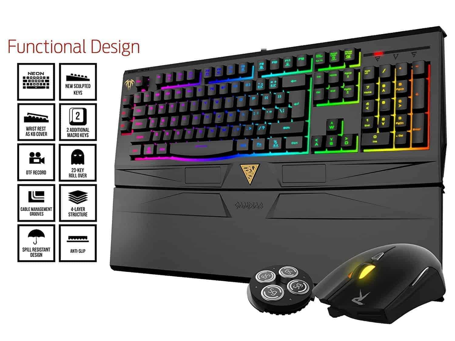 054ec6193e9 Gamdias ARES 7 Color-GKC6011 Gaming (Membrane keyboard + mouse 4000DPI)  (GKC6011