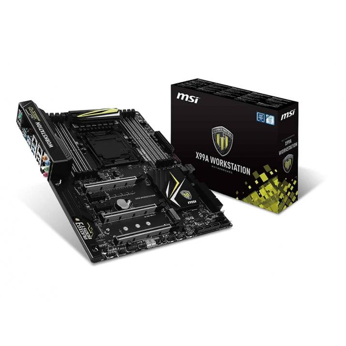 MSI X99A Workstation Intel Socket LGA2011 Extended ATX Motherboard