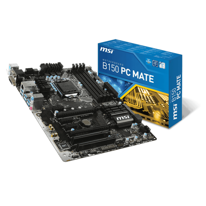 MSI B150 PC Mate LGA 1151 Intel B150 HDMI SATA 6Gb/s USB 3.1 ATX Intel Motherboard