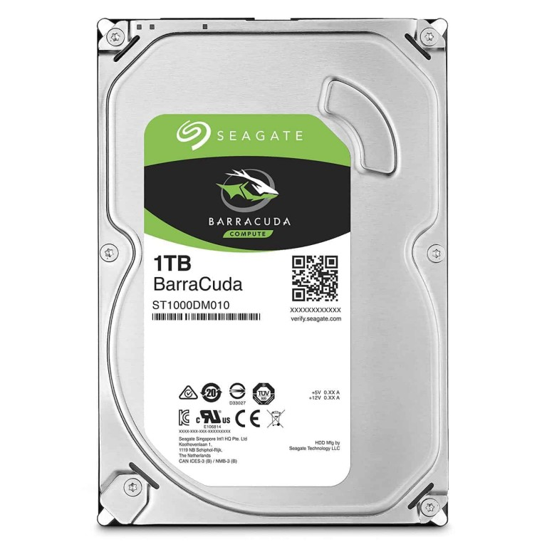 "Seagate New BarraCuda ST1000DM010 1TB 64MB Cache SATA 6.0Gb/s 3.5"" Hard Drive Bare Desktop Drive Latest"