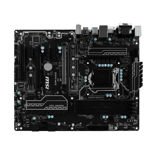 MSI H270 PC MATE 7th/6th Gen USB3 ATX Motherboard - Black (Intel Core i3/i5/i7 Processor, LGA 1151, Dual Channel DDR4, USB 3.1, PCI-E 3.0, PCI-E x1, Sata 6 GB)