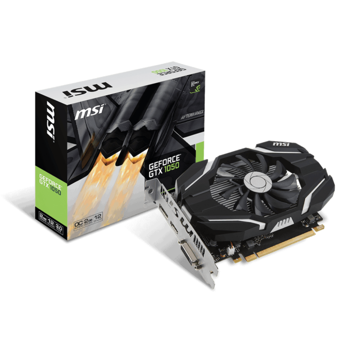 MSI GTX Geforce nvidia 1050 2G OC 2GB PCI-E Graphics Card