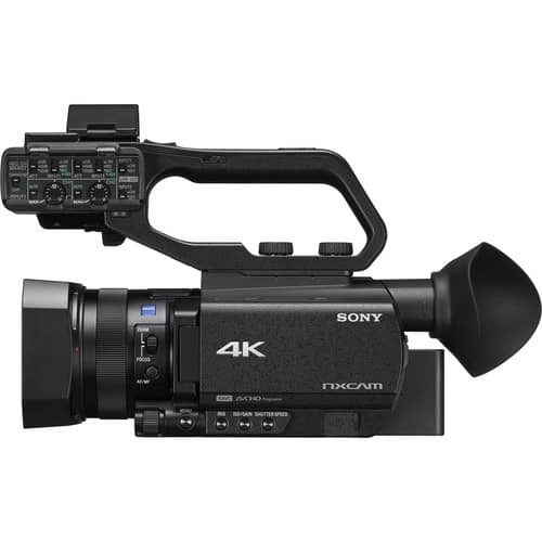 SONY HXR-NX80 4K Prefessional Video Camera, The HXR-NX80 Full HD XDCAM camcorder from Sony offers phase-detection Autofocus (AF) and HDR capabilities in a compact, palm-style body. ... The HXR-NX80's Fast Hybrid AF uses high-density placement of autofocus points and a newly developed AF algorithm to offer highly accurate, Versatile connections for professional workflows The camcorder features a Multi-Interface (MI) Shoe, HDMI and remote interface to connect with and control remotely a wide variety of compatible Sony accessories, including creating a simple live solution when connected to the optional MCX-500 Multi Camera Live Producer and RM-30BP Remote Commander.