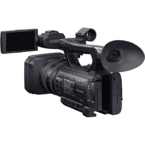 The HXR-NX100 NXCAM Professional Handheld Camcorder from Sony brings high-quality performance, adaptability, and ease of use to a compact, handheld body. The camcorder features a single Exmor R sensor with Full HD 1920x1080 resolution, Sony G lens with 12x optical zoom range, and ... Image Stabilizer: ON/OFF selectable, shift lens Zoom Ratio: 12x (optical), servo Lens Mount: Fixed Filter Diameter: 62mm, Sony HXR-NX100 is suitable for event, seminar and lecture shooting etc. It is a professional grade camcorder,