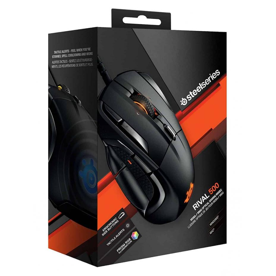 SteelSeries Rival 500, Optical Gaming Mouse, Kartmy