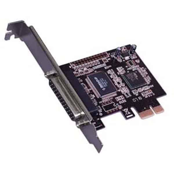 PCI Express1 Port Parallel, Fully Compliant with PCI-Express Base Specification Revision 1.0a; Single-Lane (x1) PCI-Express with Throughput up to 2.5Gbps; Low Profile Ready with Extra Low Profile Bracket; IEEE 1284 Compatible Parallel Port; Fast Data Rate up to 1.5Mbps; Build-in 256-Byte FIFO; Note: Device can be installed also by performing a, Buy SYBA PCI-Express 1-Port Parallel/Printer Card with Low Profile Bracket - RoHS Model SD-PEX10005 with fast shipping and top-rated customer service. Newegg shopping upgraded , Product Features:. PCI express 2 serial + 1 parallel port card; This interface speeds the frequency of data transfer and the high performance of PCI express bus. Supports PCI express 2.0, compatible with other PCI express interface; Driver supports Microsoft Windows 98SE/ DOS/ Linux/ XP/ 2003/ 2008/ 32/ 64 bit Vista/ Win7, satyamfilm.com , kartmy.com