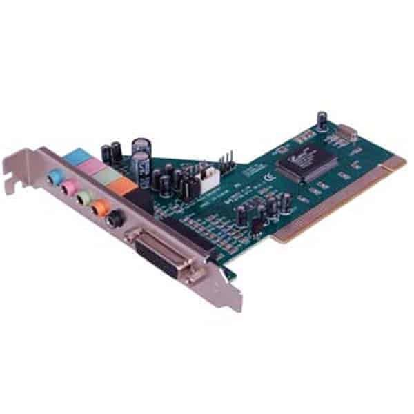 PCI SOUND CARD 6 CHANNEL, 6-channel PCI sound card (CMI8738-6CH) from C-media technology; HRTF-based CRL 3D extension positional audio, API compatible with Microsoft, Direct Sound 3D and Aureal A3D API; Supports rear side speakers, CX3D positional audio in 4-ch speaker mode; Supports Microsoft DirectSound and DirectSound 3D and ..., Buy Enter Sound Card 6 Channel Enter E-6S PCI Internal Sound Card for Rs. online. Enter Sound Card 6 Channel Enter E-6S PCI Internal Sound Card at best prices with FREE shipping & cash on delivery. Only Genuine Products. 30 Day Replacement Guarantee SatyamFilm.com kartmy.com