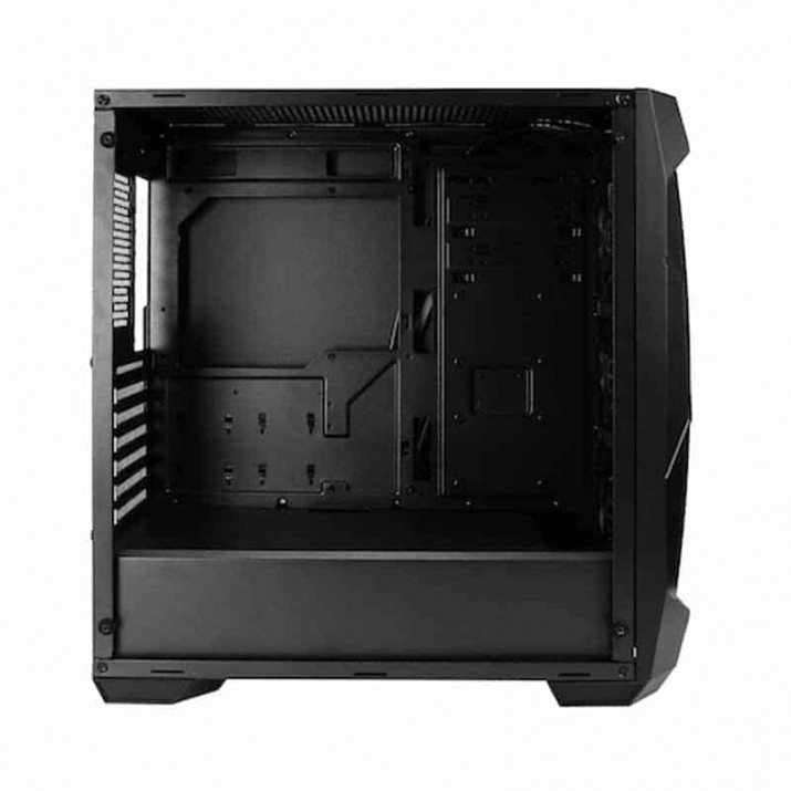 DF500 RGB is a versatile gaming mid-tower with rgb lightinghich has an dark tinted front panel and tempered glass side panel, , Eclipse your opponents with the Dark Fleet series DF500 RGB gaming mid-tower. With seven expansion slots, support for liquid cooling radiators up to 360 mm, Buy Antec DF500 RGB Versatile Gaming Mid Tower Computer Case With RGB Lighting at lowest price in india, The main side panel is a tempered glass side panel and you have a clear acrylic front to show off the three included RGB fans (DF500 RGB), Antec, KArtmy, Kartmy.com, EDIUS, Antec DF500 Versatile Gaming Mid Tower, ATX Micro-ATX ITX Computer