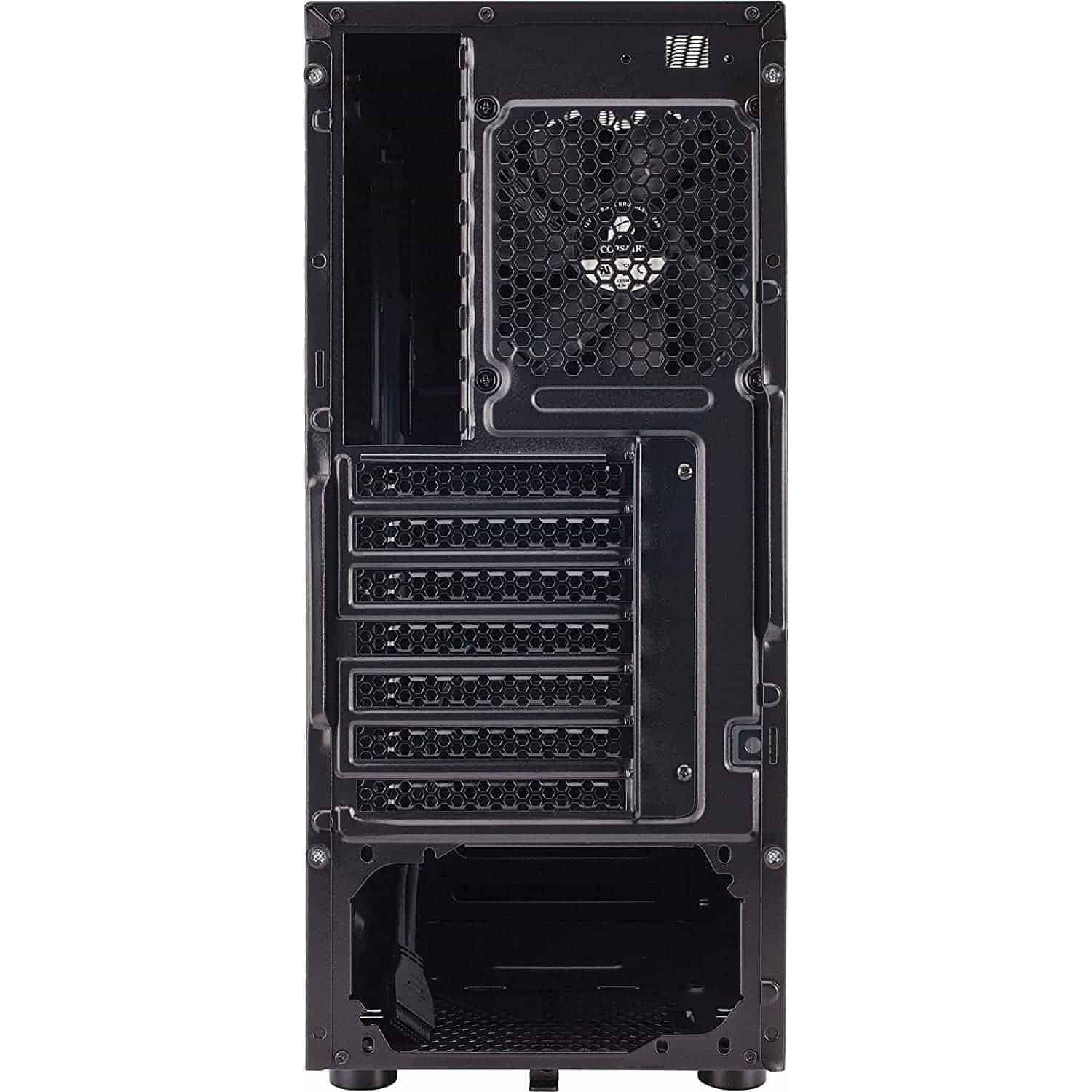 "Look no further than the Carbide Series™ 100R Mid Tower case. ... The Carbide Series 100R Mid Tower case has the versatility serious PC builders need with the clean, modern exterior design all users can agree with. ... Corsair Carbide Series mid-tower PC cases have the high-end features, Buy Corsair Carbide Series 100R CC-9011075-WW Black Steel ATX Mid Tower Computer Case ATX (not Included) Power Supply online at low price in India Kartmy.com, The Carbide Series 100R Mid Tower case has the versatility serious PC builders need with the clean, modern exterior design all users can agree with. Tool-free , CORSAIR CARBIDE 100R Mid-Tower Case, Buy Corsair Carbide Series 100R Mid-Tower Case (CC-9011075-WW) at lowest price in india at kartmy.com, Buy Corsair CC-9011075-WW Carbide Series 100R Black Steel ATX Mid Tower Computer Case with fast shipping and top-rated customer service, Elegant and modern on the outside, with all the features a serious PC builder needs on the inside. The Carbide Series 100R Mid Tower case has the versatility serious PC builders need with the clean, modern exterior design all users can agree with. Tool-free access to the interior, a flush-mounted window for admiring your components, and a range of cooling options are all available to the home builder at a spectacular value with this latest addition to the Corsair family. Simple, elegant, and sharp. It's the performance PC platform in stealth mode. With a mesh-free front panel, flush-mounted side panel window and clean lines, the 100R is both professional enough for the office and customizable enough for any home PC build. Storage, simplified. The simplicity begins with tool-free 3.5"" and 5.25"" drive installation, and all four hard drive trays provide solid-state drive support so you can mix and match to fit your needs. On the outside, dual USB 3.0 front panel ports give you quick and easy access to the latest high-speed portable hard drives and flash drives. Creative cooling Five internal fan mounts let you customize your cooling to match your build. We'll get you started with one included 120mm fan. The case is designed to draw airflow directly to the GPU to help ensure that you and your graphics card will both keep your cool during intense gaming sessions. The features that builders want Whether you're building one system or a dozen, you want the attention to detail that makes it easy. You'll appreciate things like cable routing channels for easy cable organization and better-looking builds, and the side panels are attached with thumbscrews so you can get in and out without hunting for a screwdriver. About Carbide Series PC Cases Corsair Carbide Series mid-tower PC cases have the high-end features you need, and nothing you don't. Designed to be the foundation of awesome yet approachable gaming PCs, they combine the latest technology and ergonomic innovations with lots of room to build and expand, and amazing cooling potential."