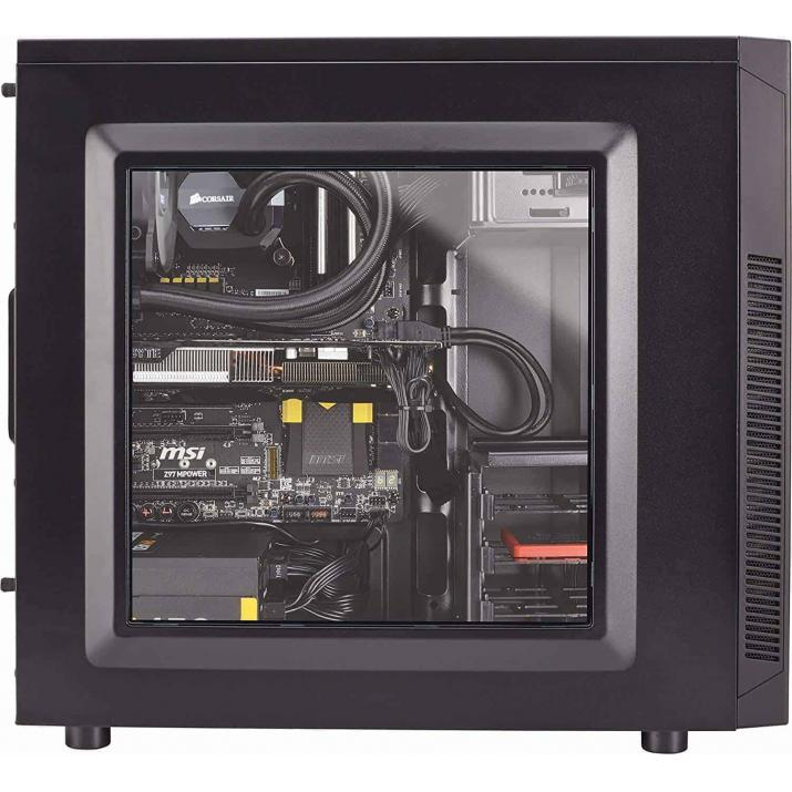 """Look no further than the Carbide Series™ 100R Mid Tower case. ... The Carbide Series 100R Mid Tower case has the versatility serious PC builders need with the clean, modern exterior design all users can agree with. ... Corsair Carbide Series mid-tower PC cases have the high-end features, Buy Corsair Carbide Series 100R CC-9011075-WW Black Steel ATX Mid Tower Computer Case ATX (not Included) Power Supply online at low price in India Kartmy.com, The Carbide Series 100R Mid Tower case has the versatility serious PC builders need with the clean, modern exterior design all users can agree with. Tool-free , CORSAIR CARBIDE 100R Mid-Tower Case, Buy Corsair Carbide Series 100R Mid-Tower Case (CC-9011075-WW) at lowest price in india at kartmy.com, Buy Corsair CC-9011075-WW Carbide Series 100R Black Steel ATX Mid Tower Computer Case with fast shipping and top-rated customer service, Elegant and modern on the outside, with all the features a serious PC builder needs on the inside. The Carbide Series 100R Mid Tower case has the versatility serious PC builders need with the clean, modern exterior design all users can agree with. Tool-free access to the interior, a flush-mounted window for admiring your components, and a range of cooling options are all available to the home builder at a spectacular value with this latest addition to the Corsair family. Simple, elegant, and sharp. It's the performance PC platform in stealth mode. With a mesh-free front panel, flush-mounted side panel window and clean lines, the 100R is both professional enough for the office and customizable enough for any home PC build. Storage, simplified. The simplicity begins with tool-free 3.5"""" and 5.25"""" drive installation, and all four hard drive trays provide solid-state drive support so you can mix and match to fit your needs. On the outside, dual USB 3.0 front panel ports give you quick and easy access to the latest high-speed portable hard drives and flash drives. Creative cooling Five internal fan moun"""