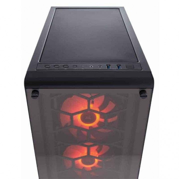 Corsair Crystal Series 460X RGB Compact ATX Tempered Glass ATX Mid Tower Case (Transparent)