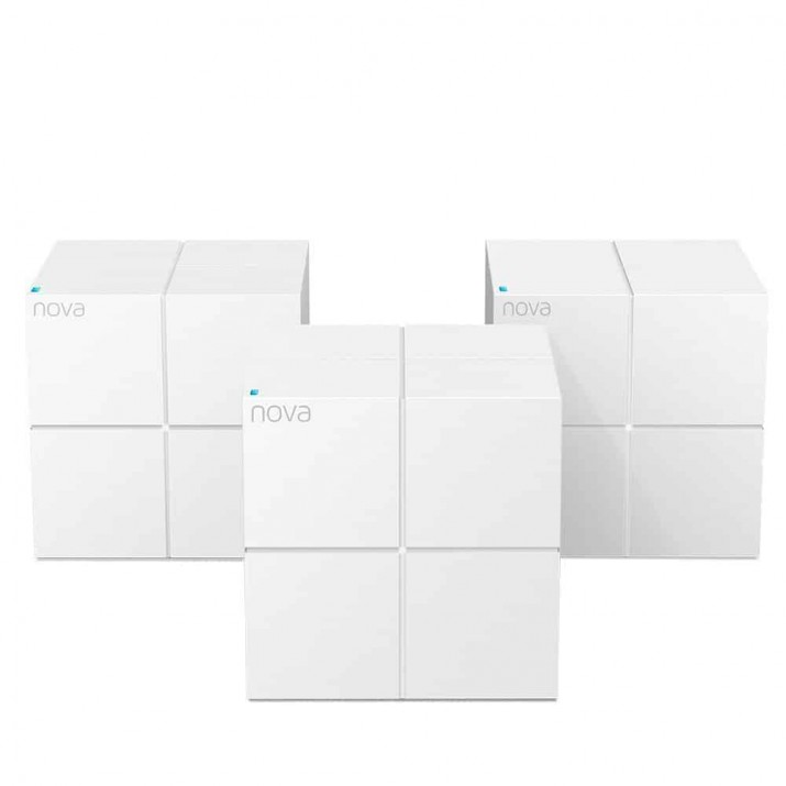 TENDA NOVA MW6 (3-PACK) WHOLE HOME MESH WIFI SYSTEM COVERAGE UP TO 6,000 SQ.FT