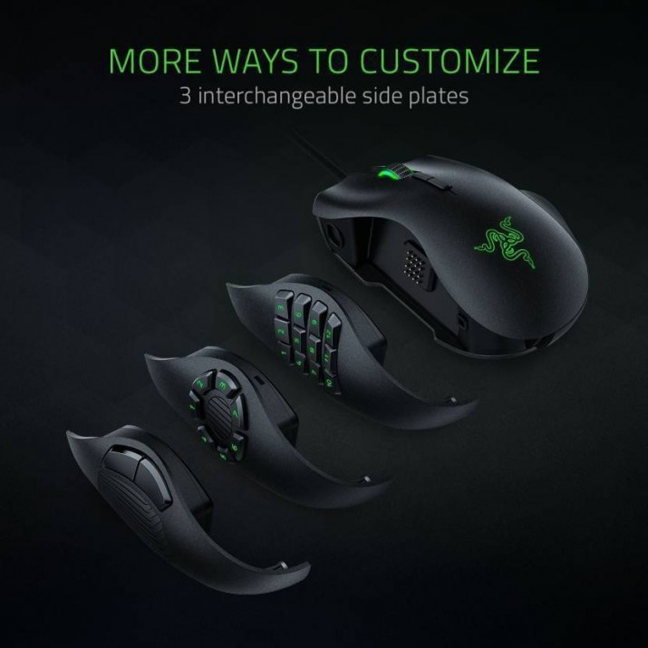 Razer Naga Trinity - Multi-color Wired MMO Gaming Mouse - FRML Packaging, Kartmy