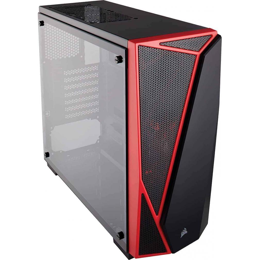 The Carbide Series SPEC-04's angular, hard-edged exterior combined with excellent cooling potential adds bold styling with ease of assembly, , Check out Corsair Carbide Series SPEC-04 Tempered Glass Mid-Tower Gaming Cases ... Components; ›; Computer Cases; ›; Corsair Tempered Glass Cabinet., Home; >Computer Cabinets>Gaming Cabinet>Corsair Carbide Series SPEC-04 Mid-Tower Tempered Glass Gaming Case - Black And Red (CC-9011117-WW)