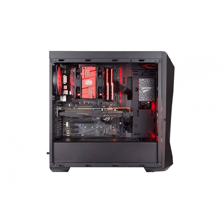 Cooler Master MasterBox K500L w/Acrylic side panel  (ATX) Mid Tower Cabinet - With Transparent Side Panel (Black)