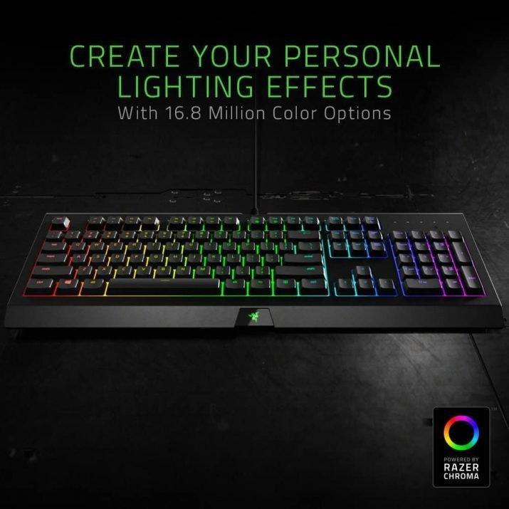 Razer CynosRazer BlackWidow Ultimate – Mechanical Gaming Keyboard - (GREEN SWITCH)a Chroma – Multi-color Gaming Keyboard