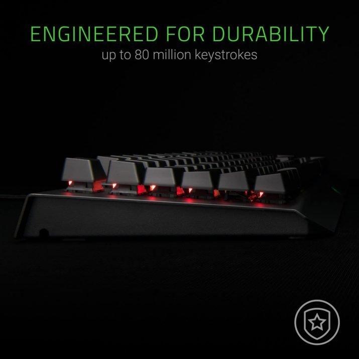 Razer BlackWidow X Chroma, Clicky RGB Mechanical Gaming Keyboard, Military Grade Metal Construction