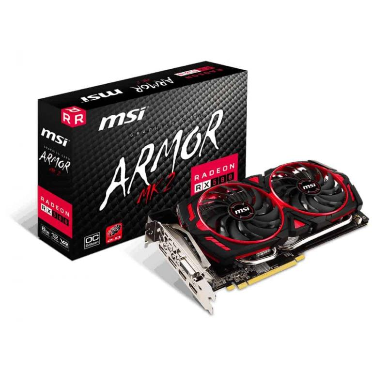 """Radeon™ RX 580 Graphics Cards Radeon RX 580 ARMOR MK2 8G OC ... First introduced in 2008 by MSI, ZeroFrozr technology has made its mark and is now ... Radeon™ RX 580 Graphics Cards Radeon RX 580 ARMOR 8G OC ... First introduced in 2008 by MSI, ZeroFrozr technology has made its mark and is now the ... Buy MSI Gaming Radeon RX 580 256-bit 8GB GDRR5 DirectX 12 VR Ready CFX ... Kartmy's Choice for """"msi radeon rx 580 directx 12 rx 580 armor mk2 8g oc ... HDMI 2 x HDMI, Multi-Monitor Support 4, DisplayPort 2 x DisplayPort, DVI 1 x ..."""