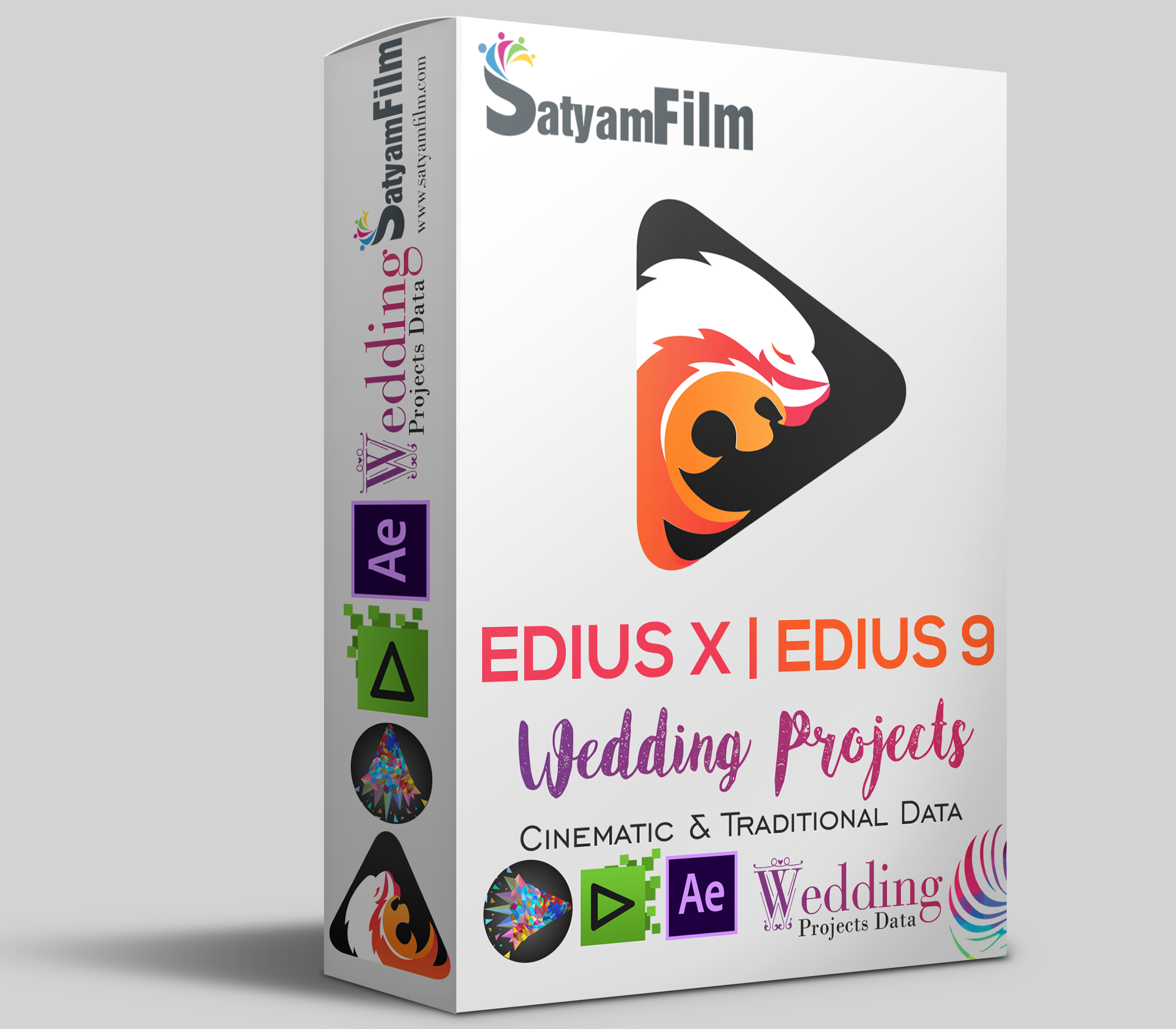 Edius Pro X/9/8 & After Effects Wedding Projects Dongle (RED Max)
