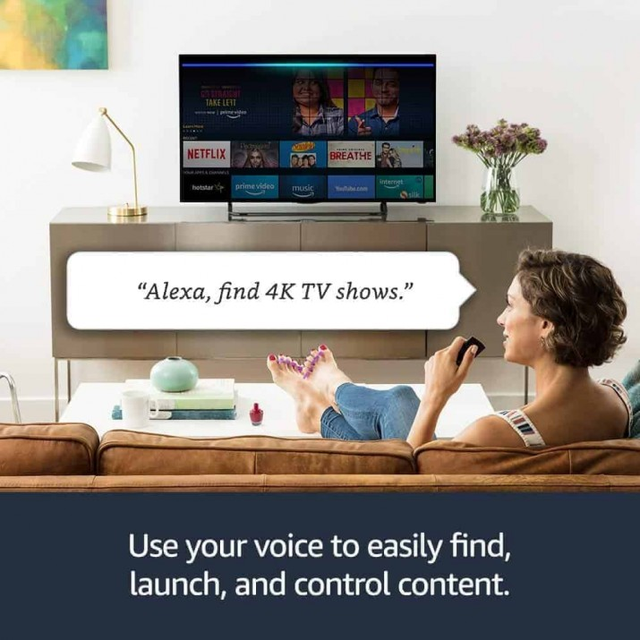 Fire TV Stick 4K with All-New Alexa Voice Remote | Streaming Media Player