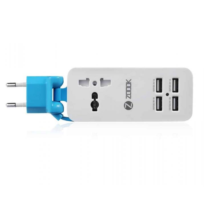 Zoook Power Strip - Universal socket and 4 USB ports ZF-PPS1