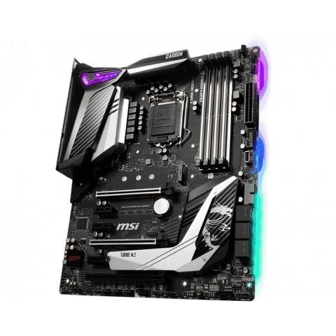 MSI - MPG Z390 GAMING PRO CARBON AC ATX LGA1151 Motherboard. ( 0 Average / 0 Ratings ) ... Specifications. Manufacturer. MSI ... Chipset. Intel Z390 ... 72049 - MSI MPG Z390 GAMING PRO CARBON AC. Unterstützte Arbeitsspeicher: DDR4-SDRAM, Arbeitsspeicher Typ: DIMM, Unterstützte. MSI MPG Z390 GAMING PRO CARBON AC (Socket LGA1151) USB 3.1 Gen 1 Intel Motherboard: ATX; DDR4 Memory; 4x288 Pin; 6 PCI Express Slots; Realtek ... he 2×2 802.11ac connection boasts up to 1.73 Gb/s throughput. ... The MPG Z390 Gaming Pro Carbon is mid-range offing from MSI's Z390 ...