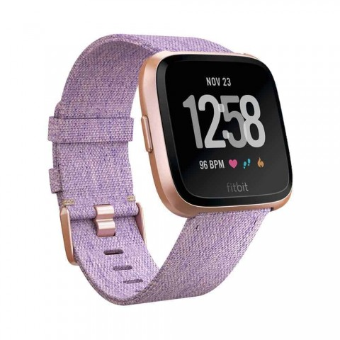 Fitbit Unisex Versa Special Edition Health and Fitness Smartwatch, Onesize (Lavender) Woven