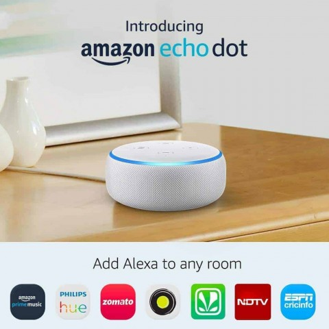 Amazon Echo Dot (3rd Gen) - Smart speaker with Alexa - White