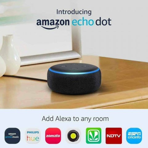 Amazon Echo Dot (3rd Gen) - Smart speaker with Alexa - Black