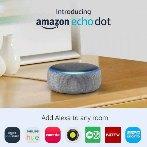 Amazon Echo Dot (3rd Gen) - Smart speaker with Alexa - Grey