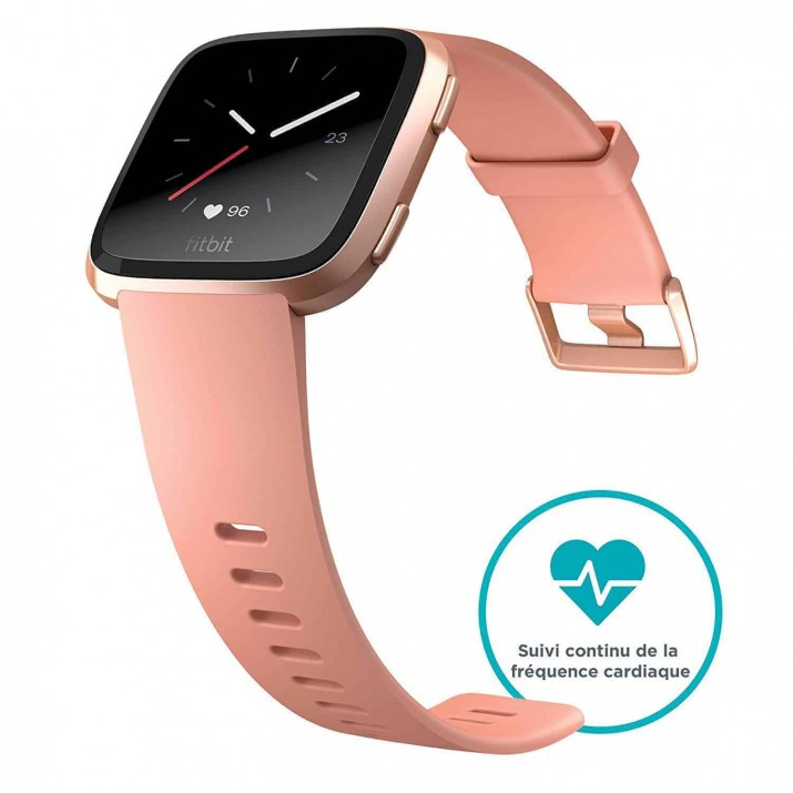 Fitbit Versa Health and Fitness Smartwatch, Onesize (Peach) (Unisex)