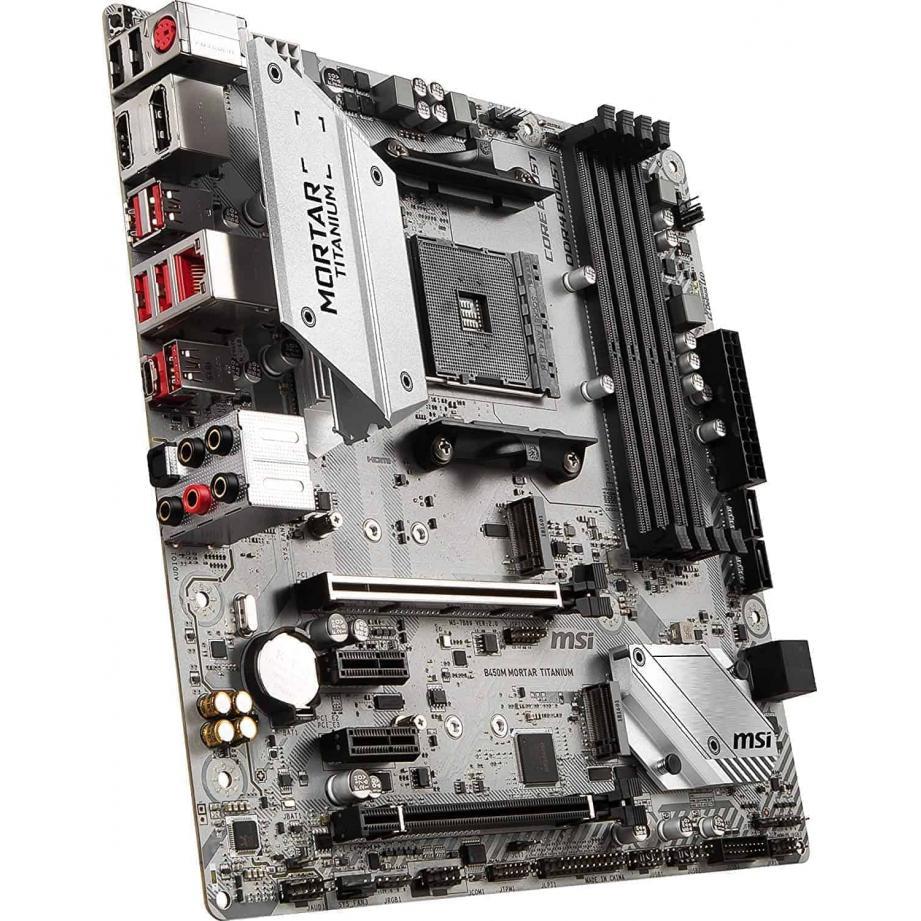 MSI B450M MORTAR TITANIUM Socket AM4 Micro ATX AMD B450