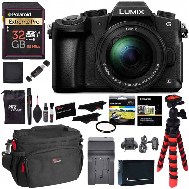 Panasonic DMC-G85MK 4K Mirrorless Interchangeable Lens Camera Kit, 12-60mm Lens, 32GB Memory Card, Battery, Charger and Accessory Bundle LUMIX G85KIT