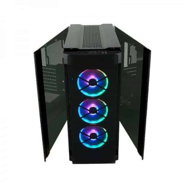 CORSAIR 500D RGB SE (ATX) MID TOWER CABINET - WITH TEMPERED GLASS SIDE PANEL AND RGB LIGHTING AND FAN CONTROLLER (BLACK)