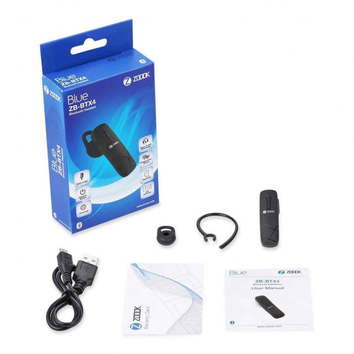 Zoook ZB-BTX4 Bluetooth Headset (Black)