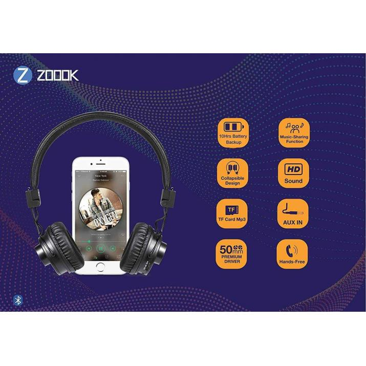Zoook Jazz Duo 2 in 1 Bluetooth Headphone/Speaker with Music Sharing