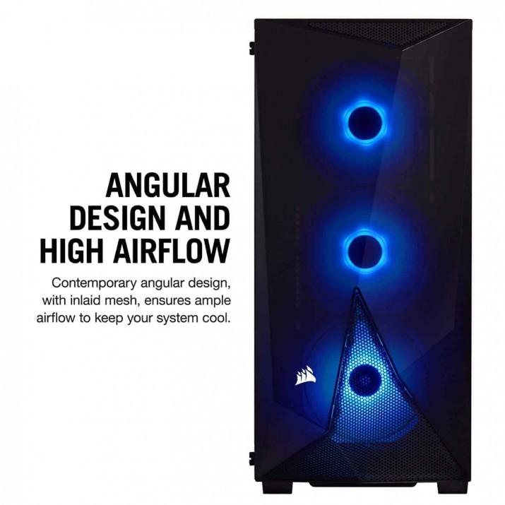 Corsair Carbide Series SPEC-Delta RGB CC-9011166-WW Tempered Glass Mid-Tower ATX Gaming Case — Black