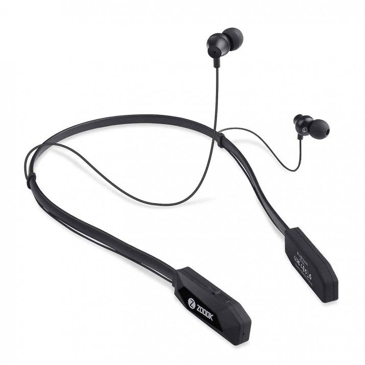 Zoook Jazz Claws Bluetooth Neckband with mic with 20 Hrs. Backup - Heavy Bass