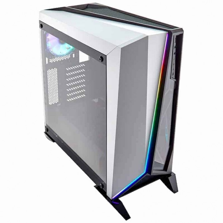 CORSAIR SPEC OMEGA RGB (ATX) MID TOWER CABINET - WITH TEMPERED GLASS SIDE PANEL AND RGB FAN CONTROLLER (WHITE)