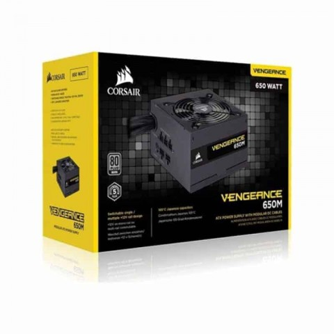 CORSAIR VENGEANCE SERIES 650M - 650 WATT 80 PLUS SILVER CERTIFIED PSU