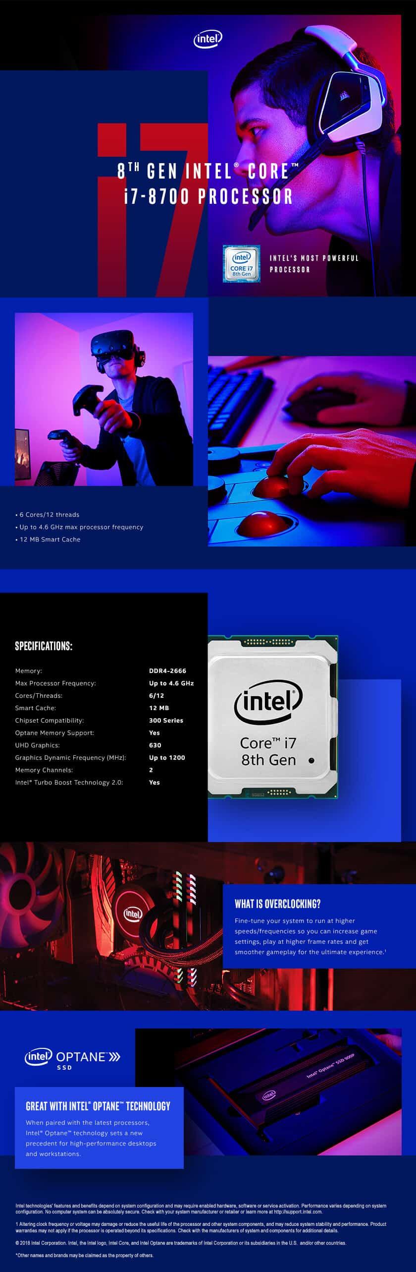 Intel® Core™ I7-8700 Desktop Processor