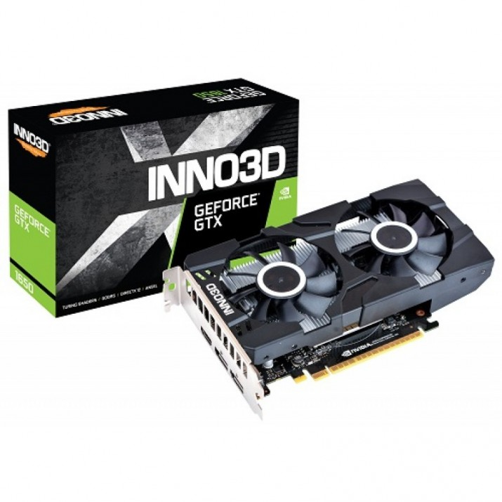 INNO3D GEFORCE GTX 1650 TWIN X2 OC 4GB GDDR5 128 BIT GAMING GRAPHICS CARD (N16502-04D5X-1510VA25)