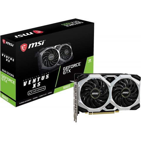 MSI GEFORCE GTX 1660 VENTUS XS OC 6GB GDDR5 192-BIT GAMING GRAPHICS CARD
