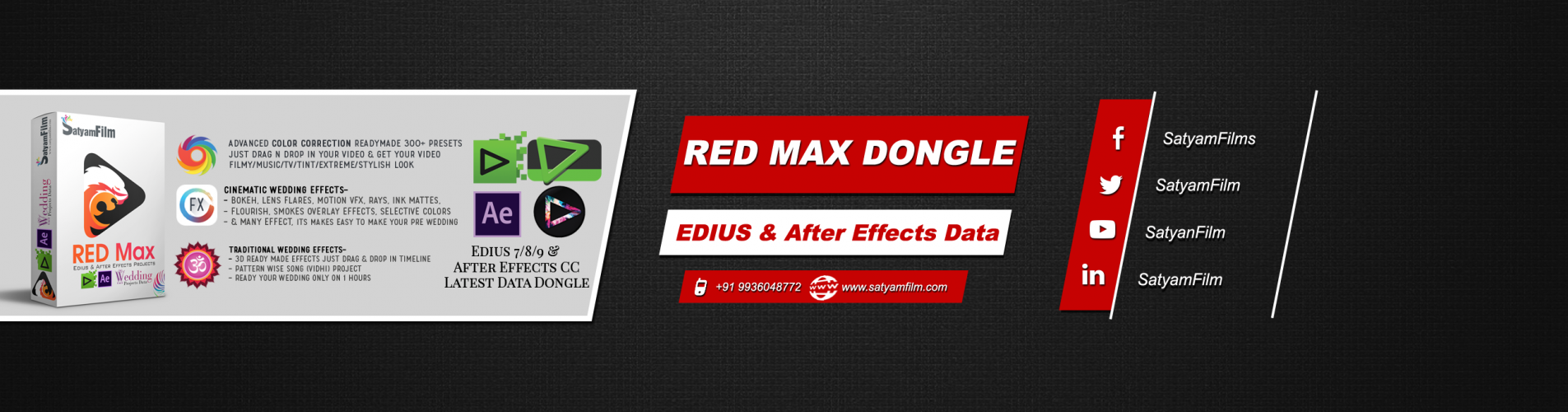 Pal Pal Dil Ke Paas - Edius Pro 9 3D Song   Edius Wedding Project   Video Mixing Editing System RED Max : Edius Pro 9   Edius Pro 8   Edius Pro 7   Adobe After Effects CC 1000+ Projects & 5000+ Effects With 2TB Internal HDD. Portrait Song, Title Project Satyam Film - Offering Edius Pro 7/8/9 & After Effects Wedding Projects Dongle (RED Max) , वीडियो संपादन We are a leading Manufacturer of MixMax Pro: Edius Pro 9 & After Effects Projects Dongle, Edius Pro 7/8/9 & After Effects Wedding Projects Dongle (RED Max) RED Max : Edius Pro 7/8/9   After Effects CC – 1000+ Projects collection with added creative graphics, effects, visual fx & beats matching projects. EDIUS X 10, EDIUS X , EDIUS 10