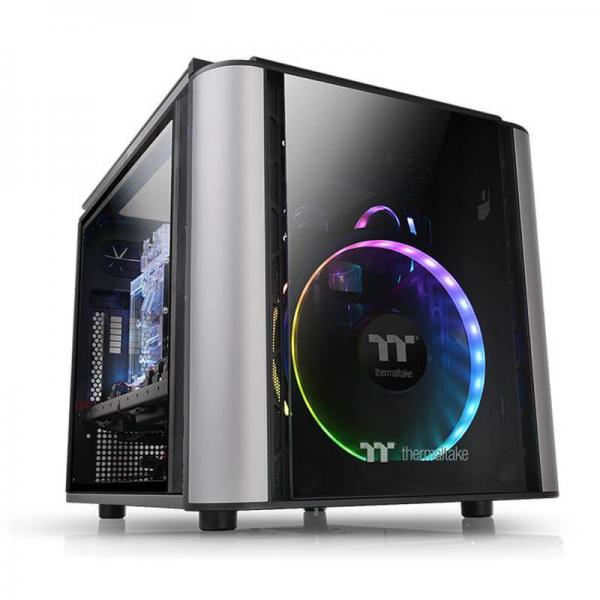 THERMALTAKE LEVEL 20 VT (M-ATX) MINI TOWER WITH TEMPERED GLASS SIDE PANEL (BLACK)