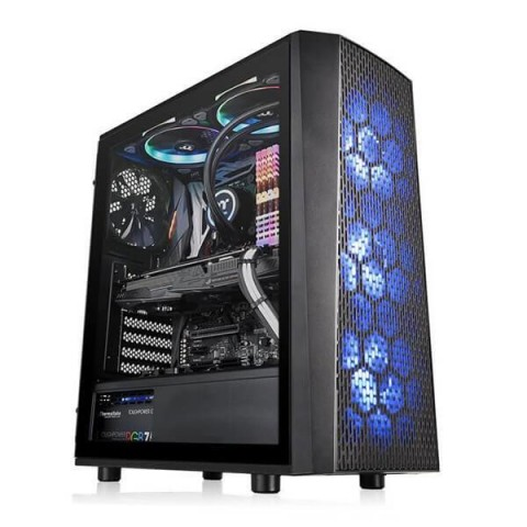 THERMALTAKE VERSA J24 TG RGB (ATX) MID TOWER CABINET WITH TEMPERED GLASS SIDE PANEL (BLACK)