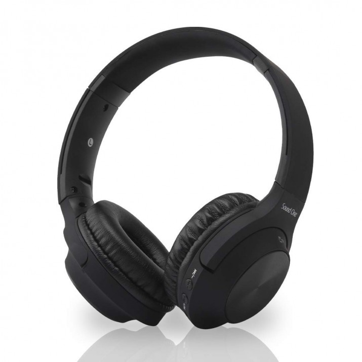 Sound One V10 Bluetooth Wireless Headphones with Mic (Black)